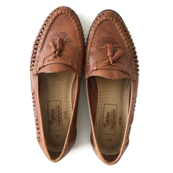 09876f54f49ee Midtown Beach Company Brazil Leather Woven Loafer